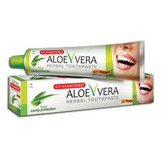 K P NAMBOODIRIS ALOE VERA Herbal Toothpaste 100 gm