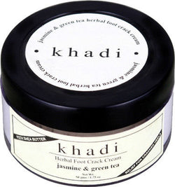 Khadi Jasmine & Green Tea Herbal Foot Crack Cream (Relief For Cracked Heel) - Paraben Free