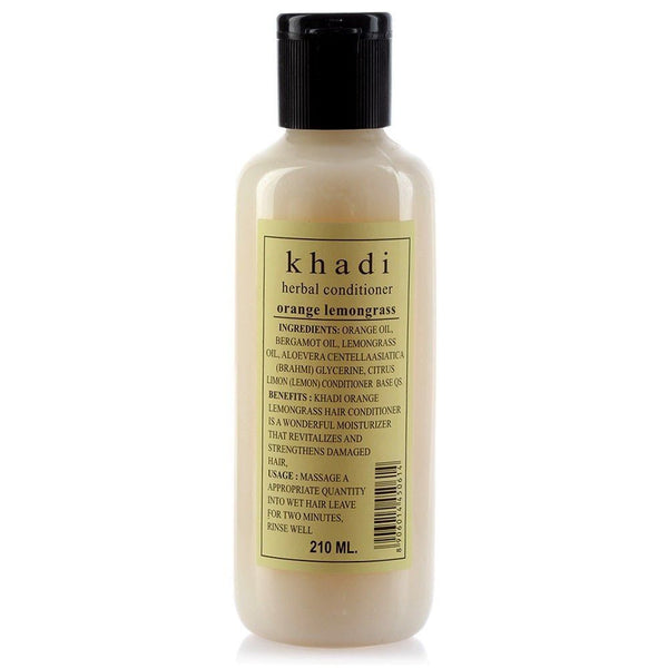 Khadi - Herbal Orange Lemongrass Hair Conditioner - SLS & Paraben Free
