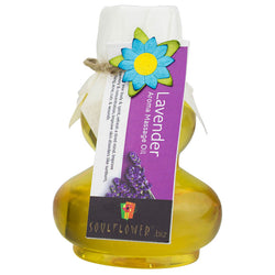 Soulflower Lavender Aroma Massage Oil - 90 ml