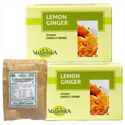Vedantika Lemon Ginger Drink - Pack of 2 - 250 Gms Each