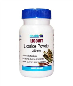 HealthVit LICOVIT Licorice powder 250 mg 60 Capsules (Pack Of 2)
