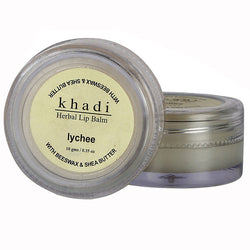 Khadi Natural Lychee Lip Balm - With Beeswax & Shea Butter