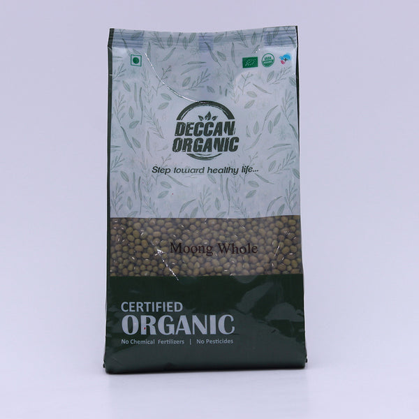 Deccan Organic Green Moong Whole 500 Gms