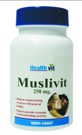 HealthVit Muslivit 250mg 60 Capsules (Pack of 2)