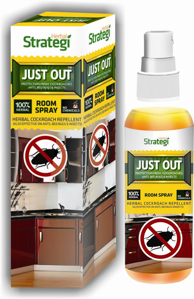 Herbal Strategi Just Out: Herbal Cockroach, Ants, Bedbugs Repellent 100mL Pack of 3