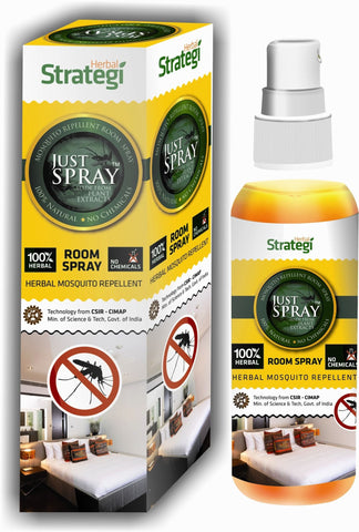 Herbal Strategi Just Spray: Herbal Mosquito Repellent Room Spray 100mL Pack of 3