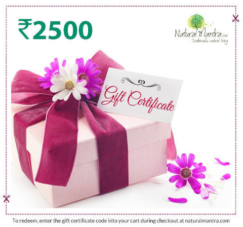 Natural Mantra Gift Certificate - Rs 2500