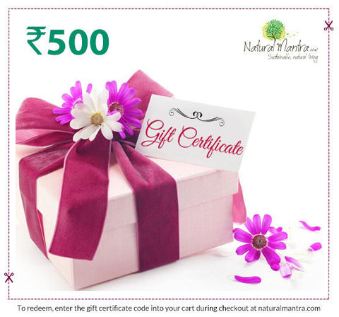Natural Mantra Gift Certificate - Rs 500