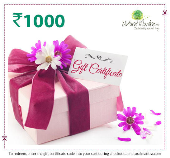 Natural Mantra Gift Certificate - Rs 1000