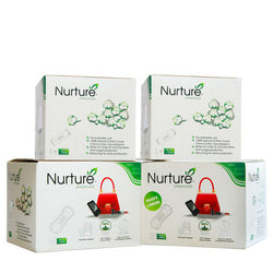 Nurture Buy THREE Chemical Free Panty Liners and Get ONE at 40% discount - Combo