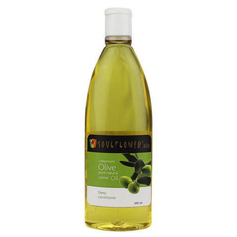 Soulflower Coldpressed Olive Carrier Oil - 200 ml