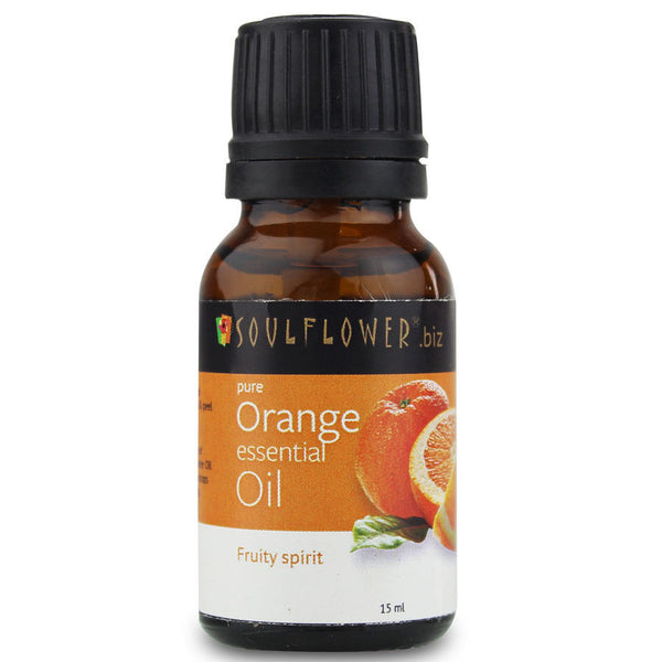 Soulflower Orange Essential Oil - 15 ml