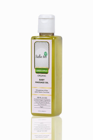 Rustic Art Organic Baby Hair Oil - Green Apple