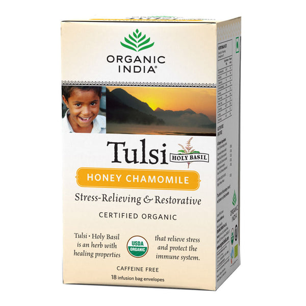 Organic India Tulsi Honey Chamomile 18 Tea Bags