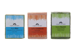 Organic Therapie Body Essential Spa Gift Set: Aqua Blast, Saffron Exfolianté & Neem Nourish