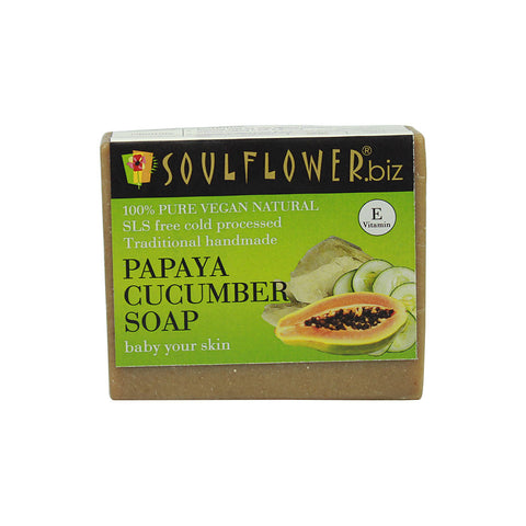 Soulflower Papaya Cucumber soap