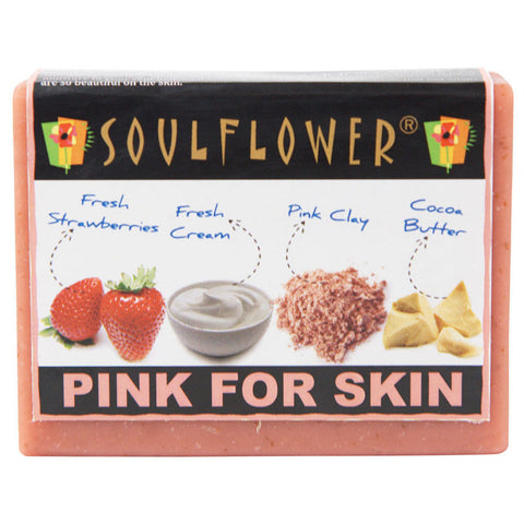 Soulflower Pink For Skin 100% Veg Soap - 150 gms