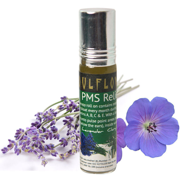 Soulflower Aromatherapy PMS Relief Roll On - 8 ml