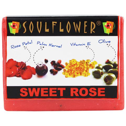 Soulflower Rose 100% Vegan Soap - 150 gms