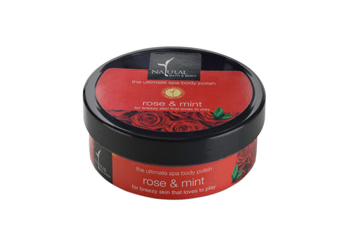 Natural Bath and Body Rose & Mint The Ultimate Spa Body Polisher 200 ml