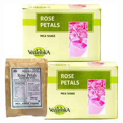Vedantika Rose Petals Milk Shake - Pack of 2 - 250 Gms Each