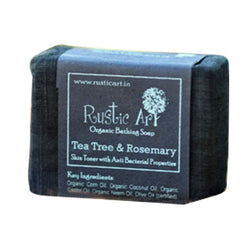 Rustic Art - Organic Tea Tree & Rosemary Soap - 100 gms
