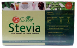 All Natural So Sweet Stevia Sachets (25 Stevia Sachets)