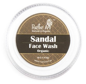 Rustic Art Organic  Sandal Face Wash Concentrate 50gm