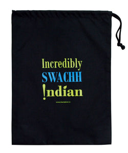 Clean Planet Swachh Citizen - Incredibly Swachh Drawstring Pouch