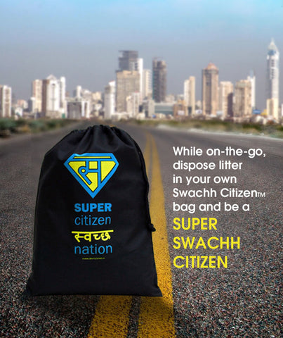Clean Planet Swachh Citizen - Super Swachh Drawstring Pouch