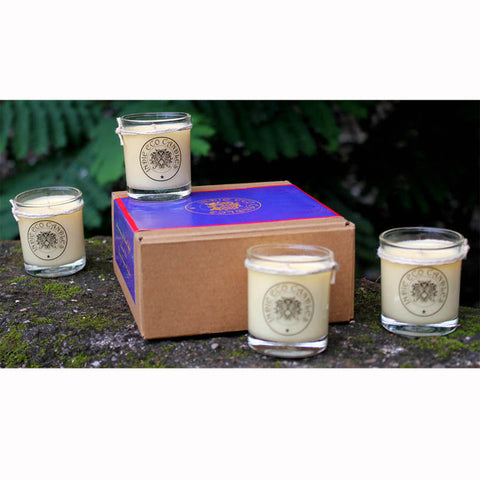 Indie Eco Candles - Set of 4 Small Candles, Assorted Fragrances - 590 Gms