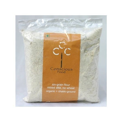 Conscious Food Organic Six Grain Flour (Wheat Free) 500Gms
