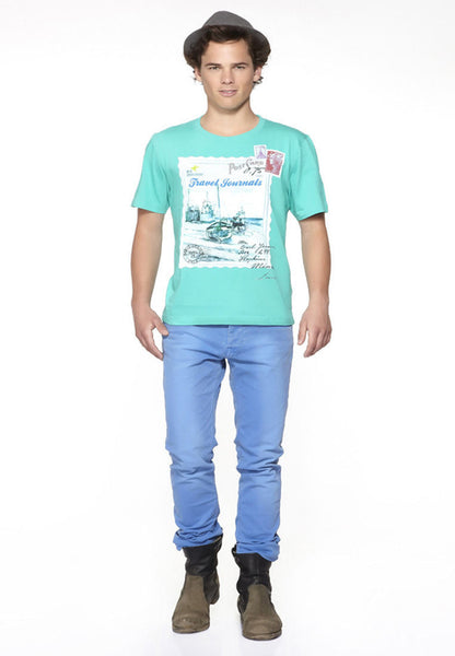 DUSG Travel Journals Men's Organic T-Shirt Colour: Atlantis