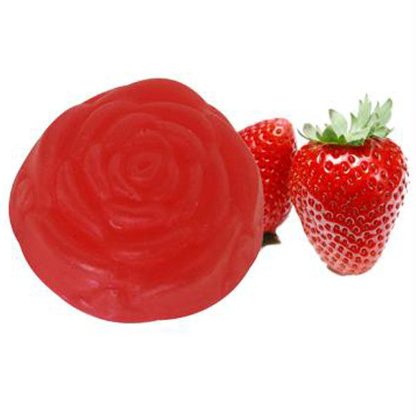 Soulflower Strawberry Pure Glycerin Soap 100gms