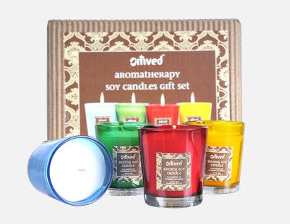 Omved Aromatherapy Soy Candle Gift Set
