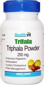 HealthVit TRIFALA Triphala Powder 250 mg 60 Capsules (Pack Of 2)