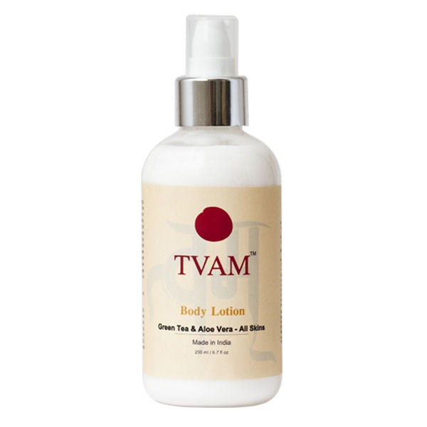 Tvam Body Lotion - Green Tea And Aloe Vera - All Skins 200 Ml