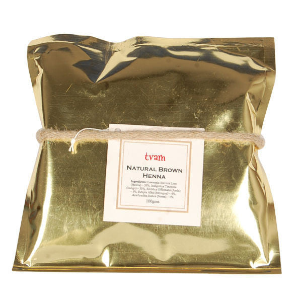 Tvam Natural Brown Henna - 100 gms