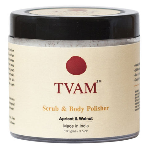 Tvam Scrub And Body Polisher-Apricot And Walnut - 100 Gms