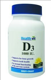 HealthVit Vitamin D3 1000IU 30Tablets (Pack of 2)