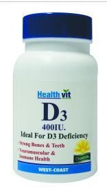 HealthVit VITAMIN D3 400IU Tablet (Pack of 2)