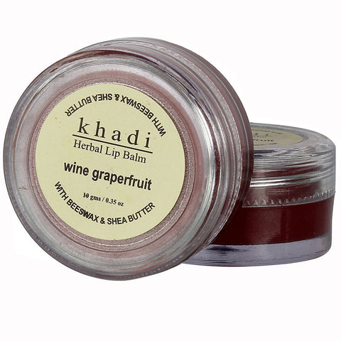 Khadi Natural Wine Grapefruit Lip Balm - With Beeswax & Shea Butter