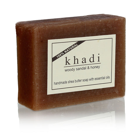 Khadi Woody Sandal & Honey Soap - 100 Gms
