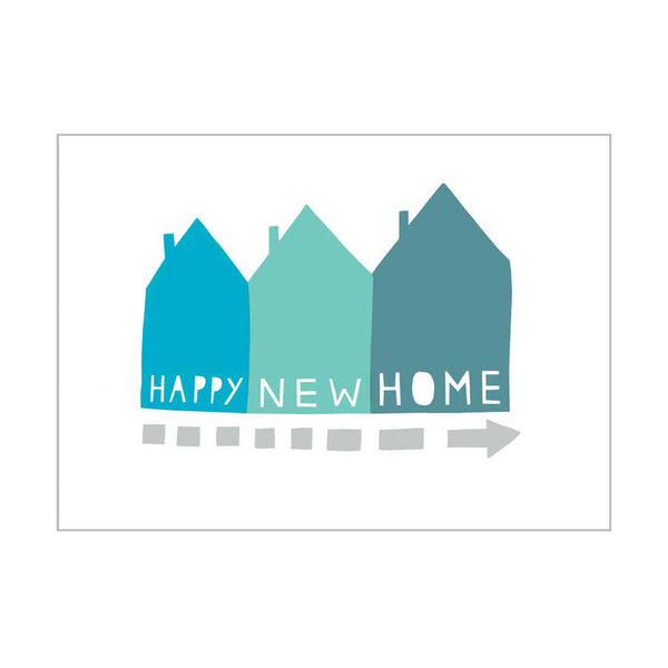 Card . Happy New Home / Blue