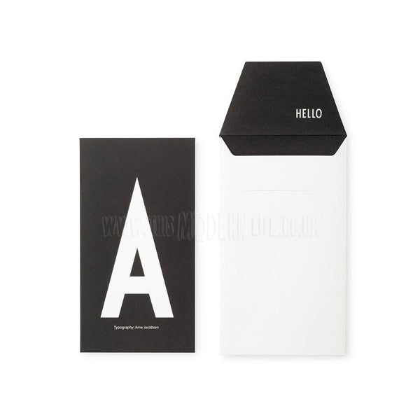 Card . A-Z / Black & White