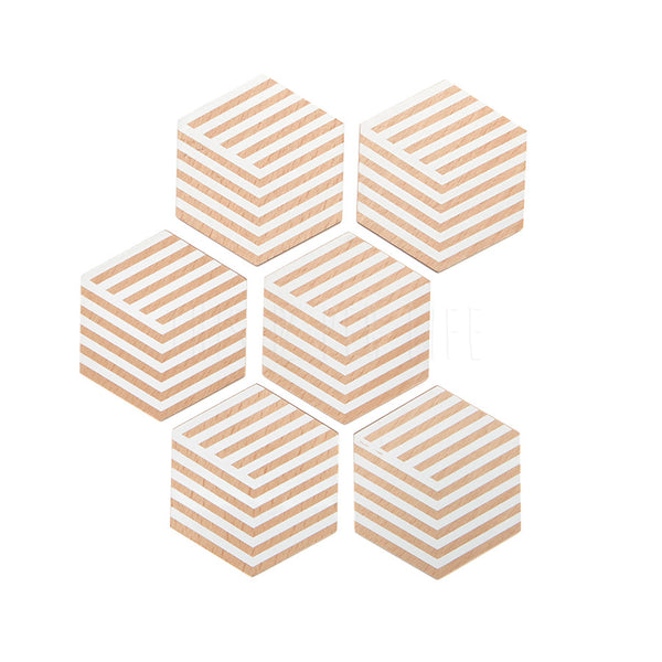 Coasters . Table Tiles / Optic White