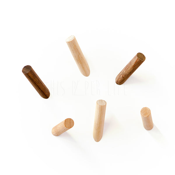 Magnet Set . Stick Up Sticks - Natural Beech