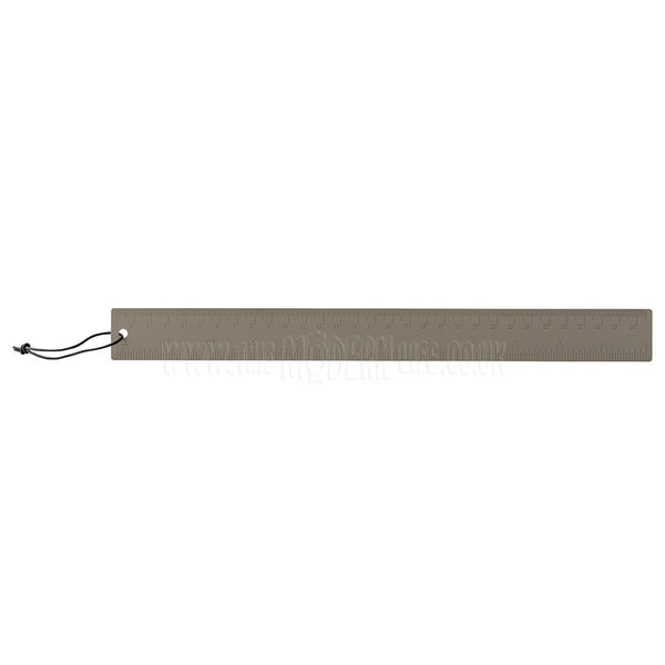 Ruler . Metal . Slimline / Grey