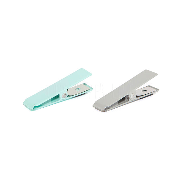 Magnets . Set Of Two . Clipper / Mint + Grey